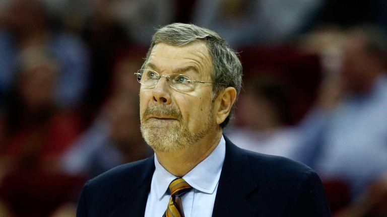 Brooklyn Nets Head coach P.J. Carlesimo waits on