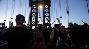 Protesters marched throughout New York City on Sunday