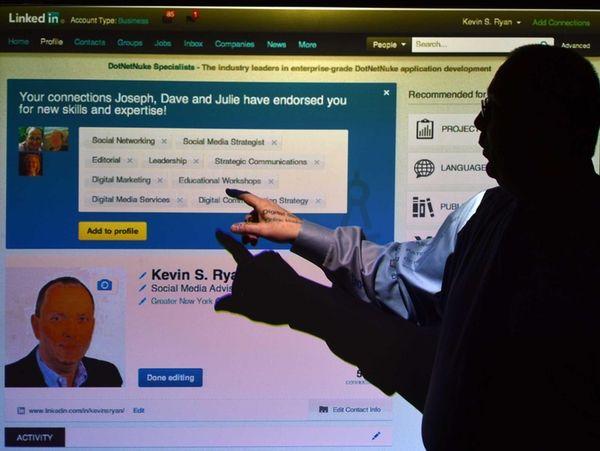 In Hauppauge, social media specialist Kevin S. Ryan