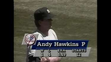 7/1/90: Andy Hawkins throws a no-hitter, but Yankees