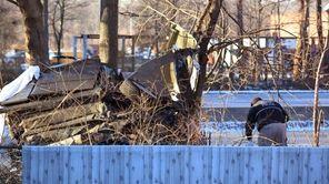 New York State Police investigate a fatal single-car