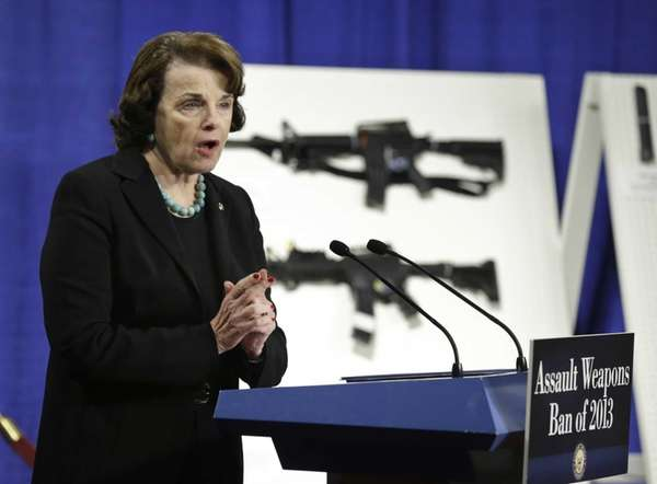 Sen. Dianne Feinstein, D-Calif. speaks during a news