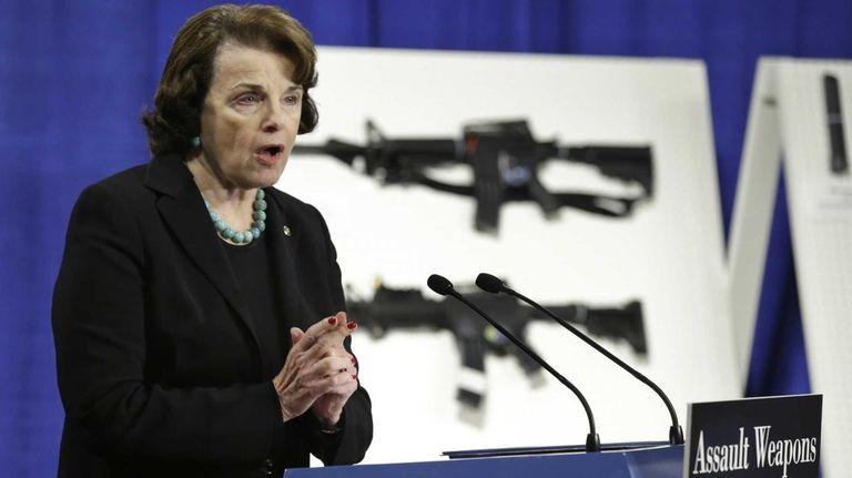Sen. Dianne Feinstein, D-Calif. speaks during a news