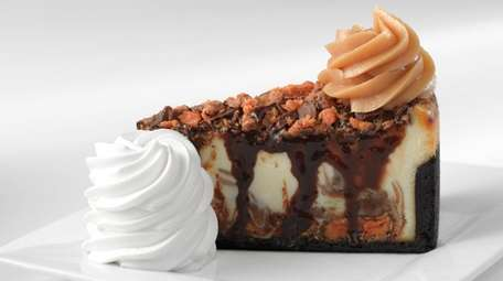 Adam's peanut butter cup fudge ripple cheesecake from