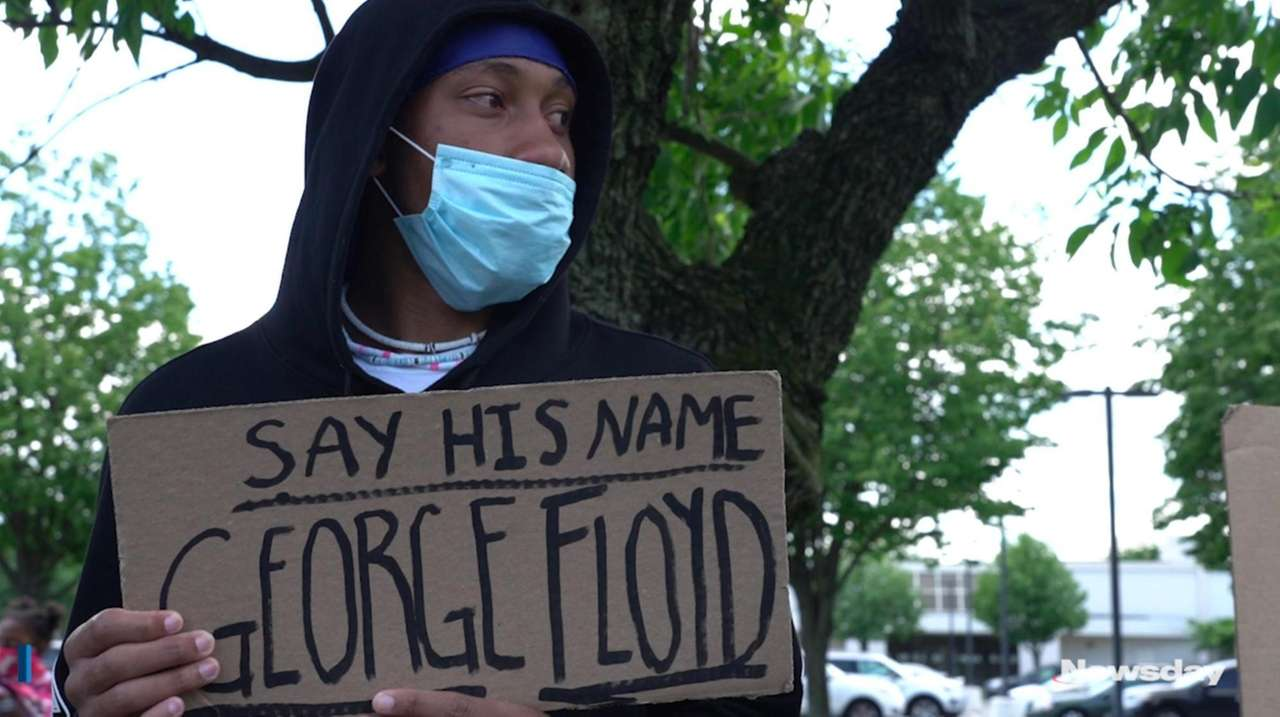 Protests took place across Long Island on Monday,
