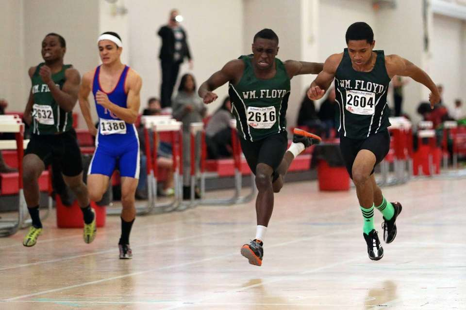 William Floyd's Diamonte Corley, far right, edges out