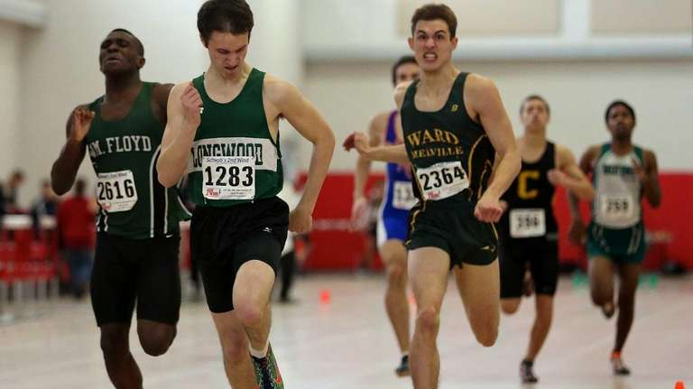 Longwood's Mike Engesser pulls away for the win