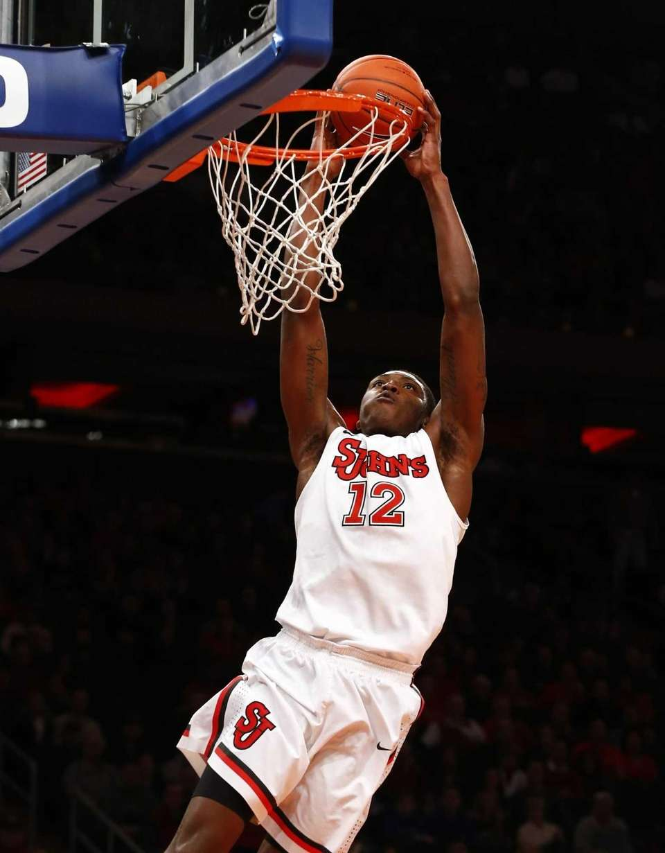 Chris Obekpa of the St. John's Red Storm