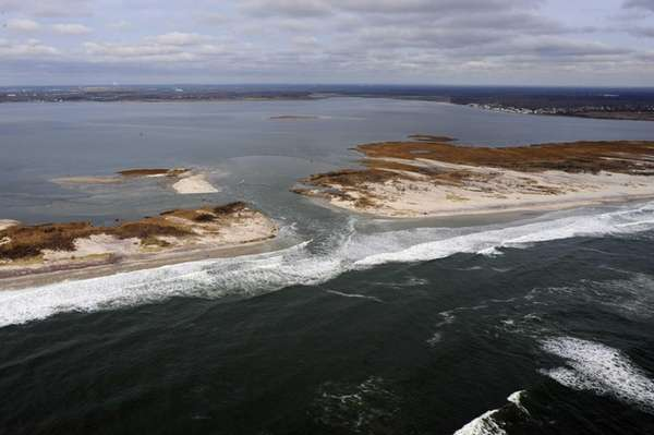 A breach in Fire Island is shown. (Dec.