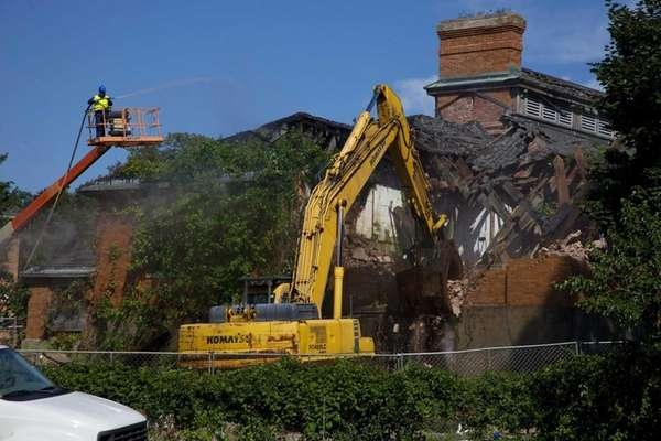 Demolition begins at the former Kings Park Psychiatric