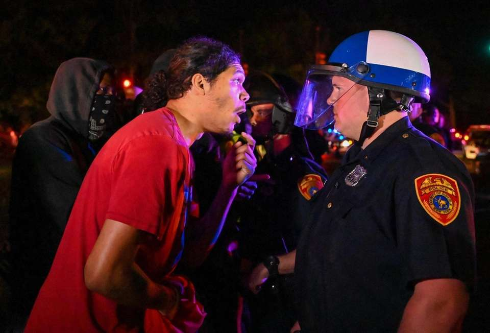 Protesters clash with Suffolk County police in riot