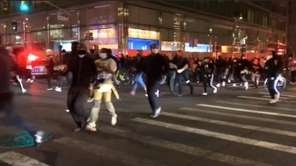 The NYPD said they arrested about 200 people overnight