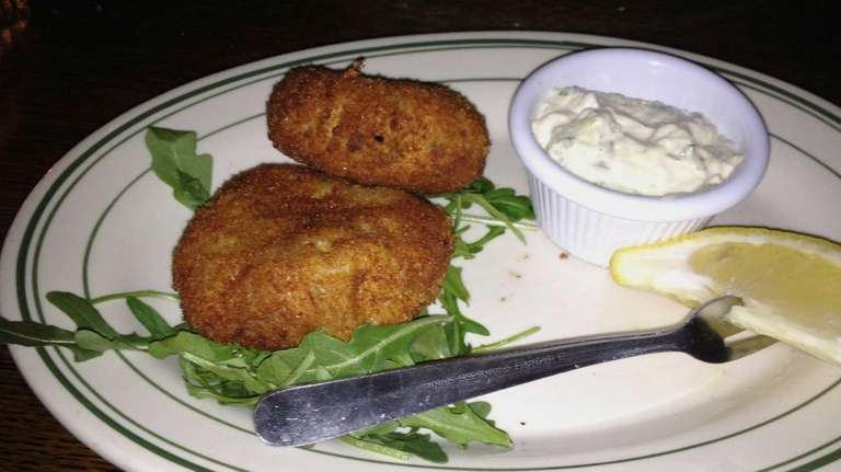 Crabcakes served at The Savoy Tavern in Merrick.