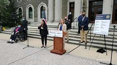 Nassau County Executive Laura Curran on Tuesday praised