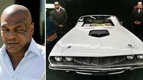 Left: Former heavyweight boxing champion Mike Tyson leaves