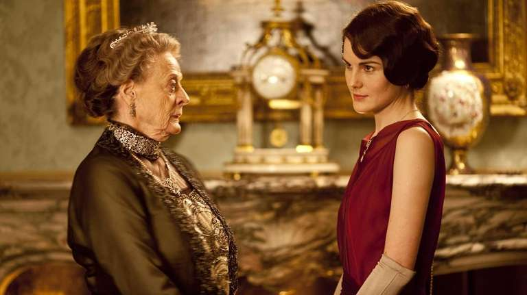 Maggie Smith, left, as the Dowager Countess and