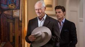 Larry Hagman as J.R Ewing and Josh Henderson