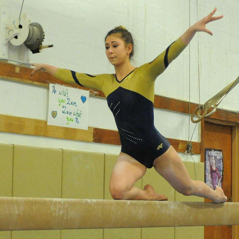 Bethpage High School junior Sarah Ciresi performs her