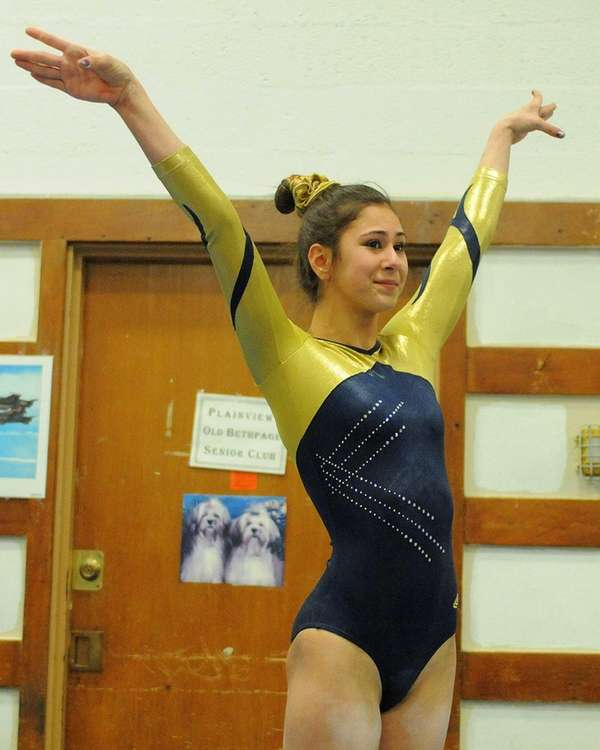 Bethpage High School junior Sarah Ciresi concludes her
