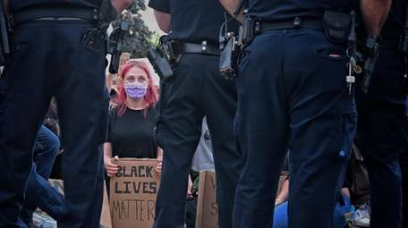 A Black Lives Matter protest in Merrick on