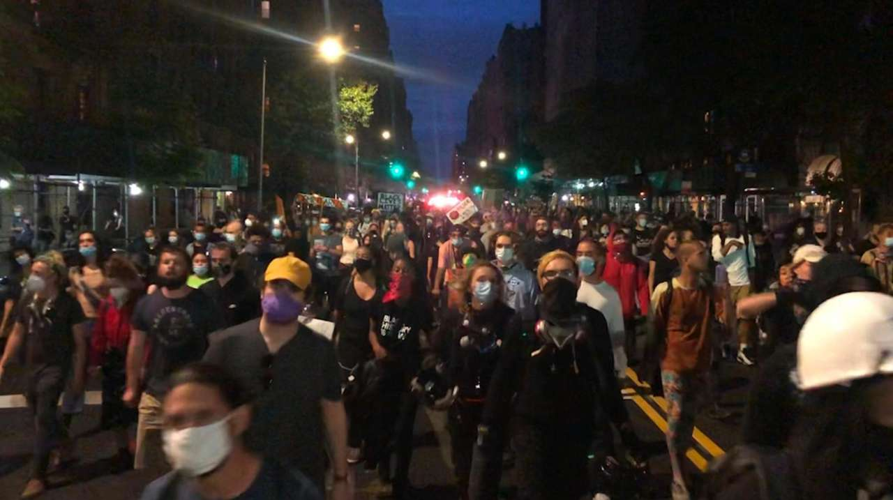 The NYPD reported that around 280 people were