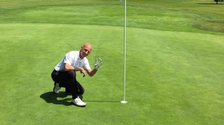 Phil Wakefield after making an ace on the