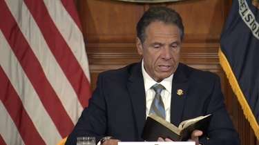 Gov. Andrew M. Cuomo, in direct response to