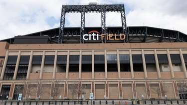 An empty Citi Field is seen on March