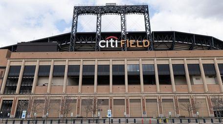 An empty Citi Field is seen on March
