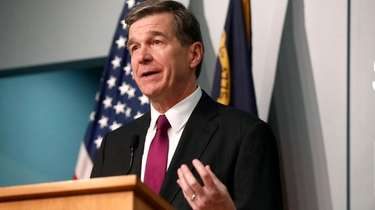 North Carolina Gov. Roy Cooper during one of
