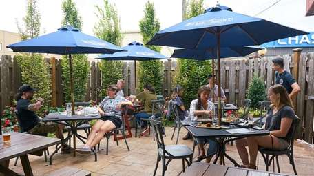 The outdoor seating area at Garden Social in