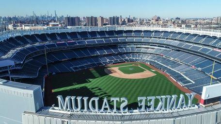 Yankee Stadium, seen here Thursday, March 26, 2020,