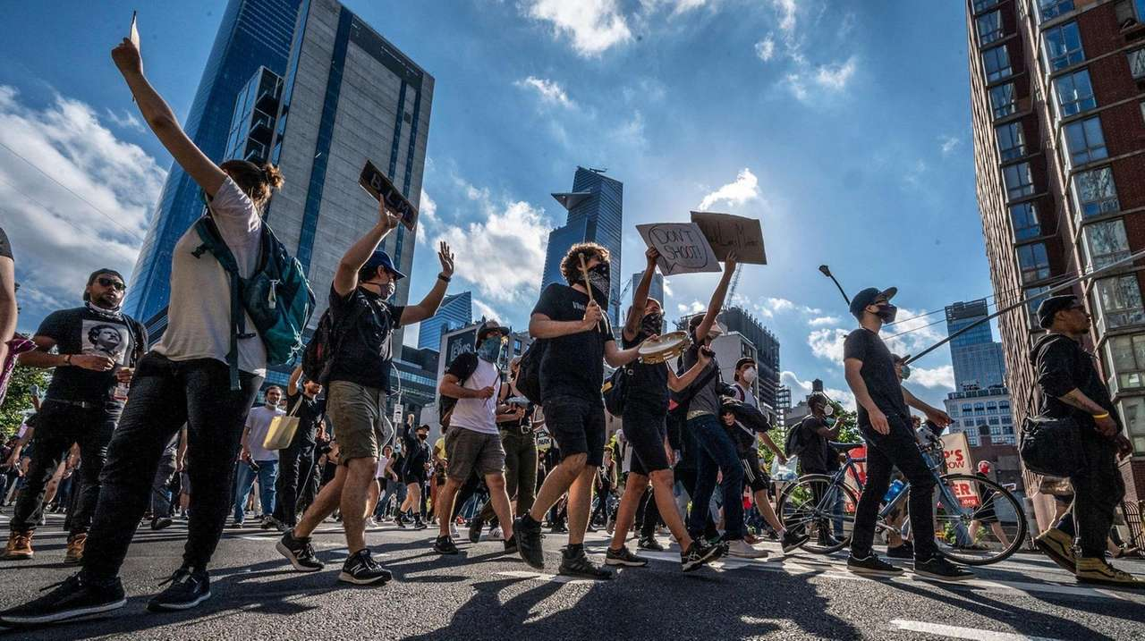 On Wednesday, New Yorkers continue to protest the