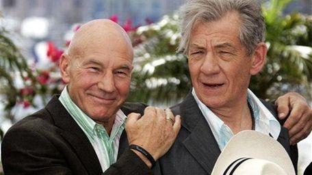 Patrick Stewart, left, and Ian McKellen during a