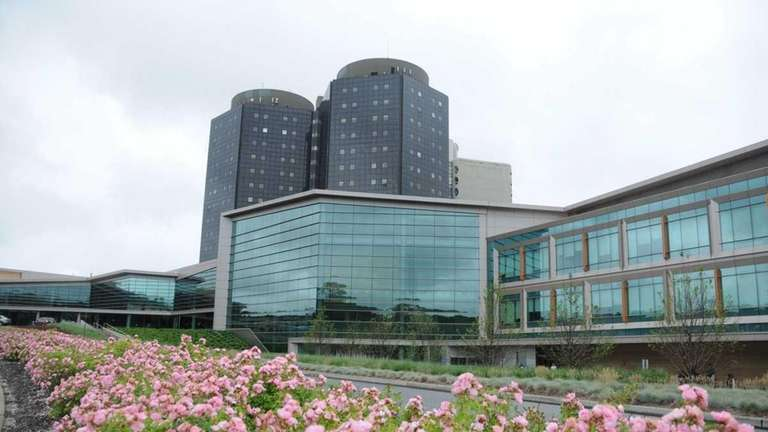 The exterior of Stony Brook University Hospital at