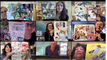 Patrons of Huntington Public Library display their own