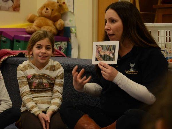 Ava Frising, 7, a second-grader at Manor Oaks