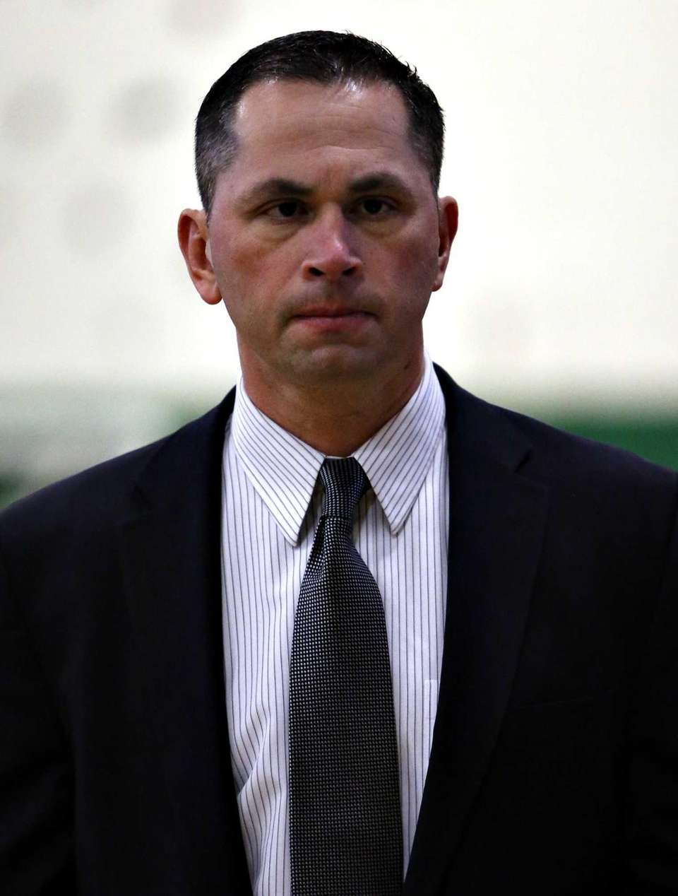 Brentwood boys varsity basketball head coach Anthony Jimenez