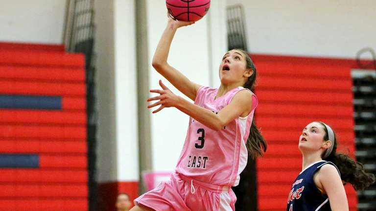 Smithtown East's Haley Anderson puts in the layup