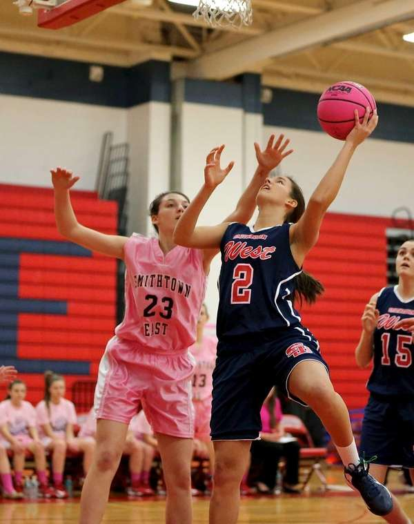 Smithtown West's Sharon Bossert puts in the reverse