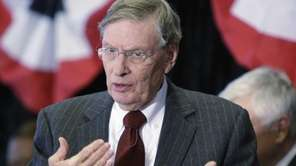 Major League Baseball commissioner Bud Selig speaks at