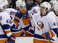 Michael Grabner (40) celebrates his goal against the
