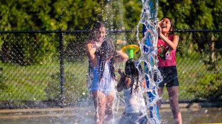 Kids cool off last summer at the Sgt.