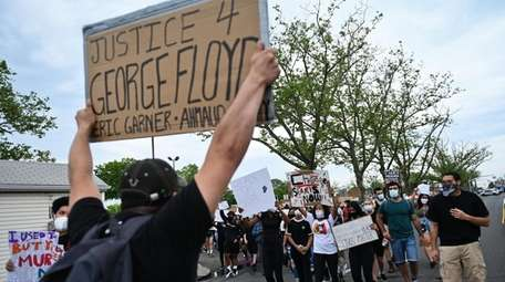 Protesters took to the streets of Valley Stream