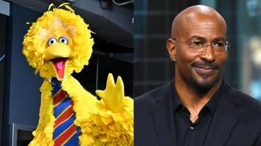 """Sesame Street's"" Big Bird and CNN's Van Jones"