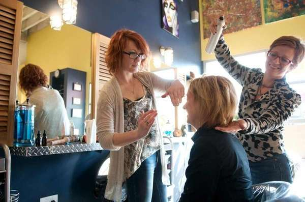 Beehive Salon of Islip salon assistant Chelsie Lopresti,