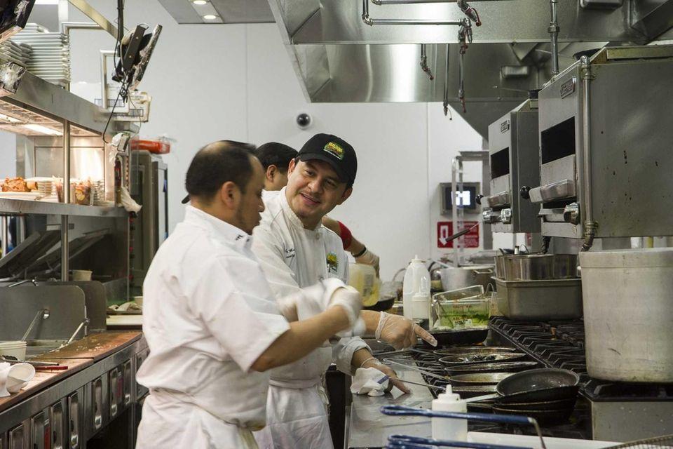 Head chef Oscar Martinez in the Havana Central