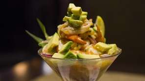 Havana Central's refreshing shrimp seviche with citrus, avocado