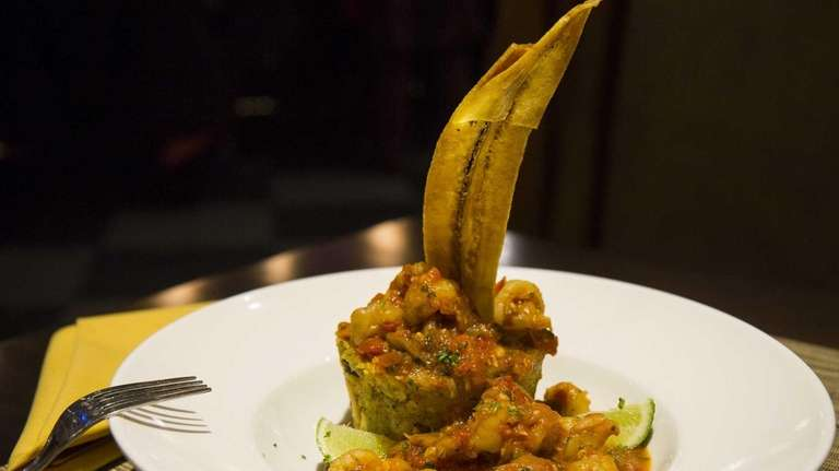 Havana Central's shrimp mofongo, mashed plantains and garlic