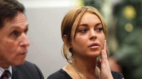 Troubled actress Lindsay Lohan appears in court for